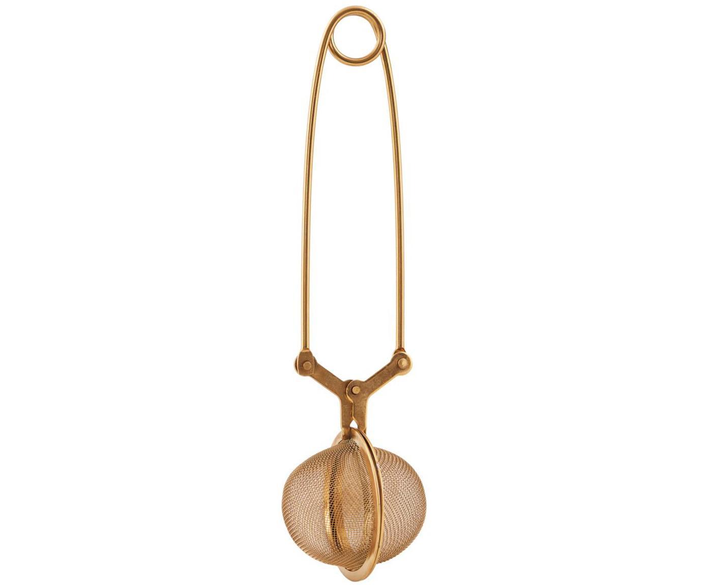 Colino da tè Mesh, Acciaio inossidabile verniciato, Rosa dorato, Lung. 17 cm