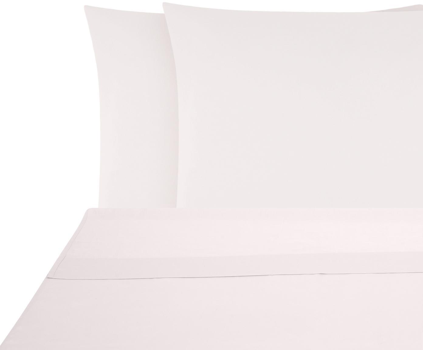 Set lenzuola in raso di cotone Comfort 2 pz, Tessuto: raso Densità del filo 250, Rosa, 240 x 300 cm