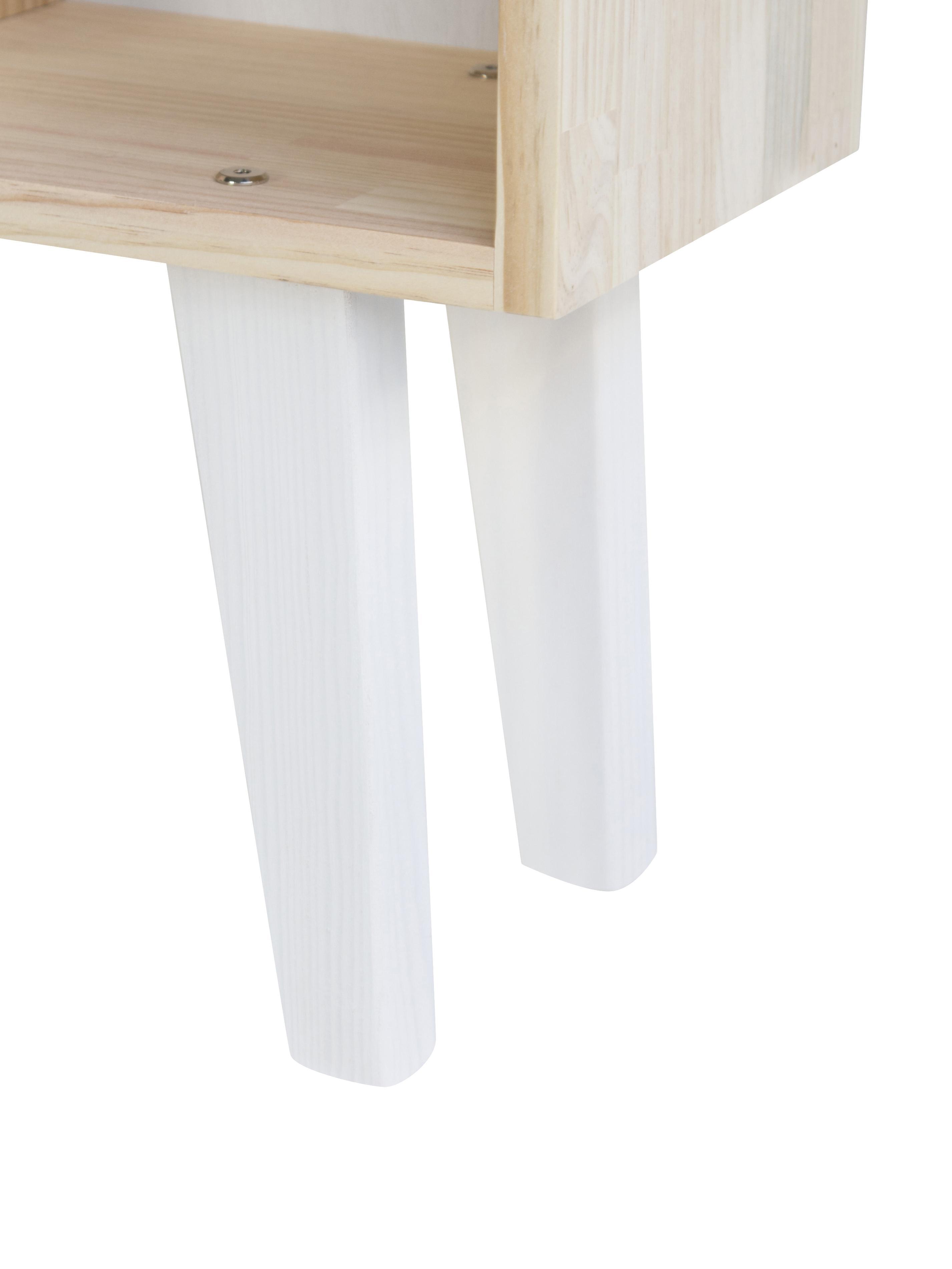 Standregal Blanca, Kiefernholz, Weiß, 75 x 120 cm