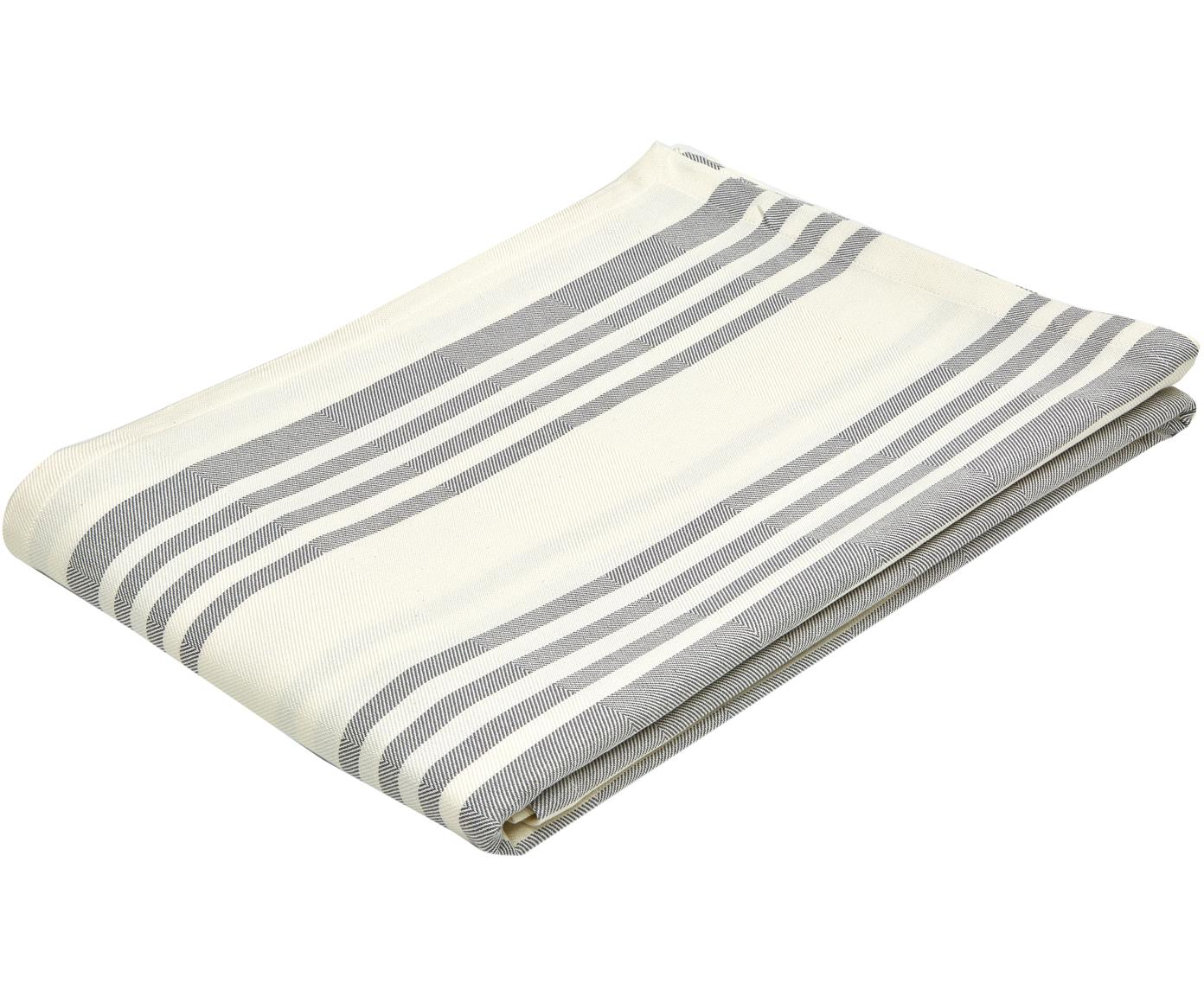 Tafelkleed Arca, Katoen, Wit, gebroken wit, Voor 8 - 10 personen (B 140 x L 280 cm)