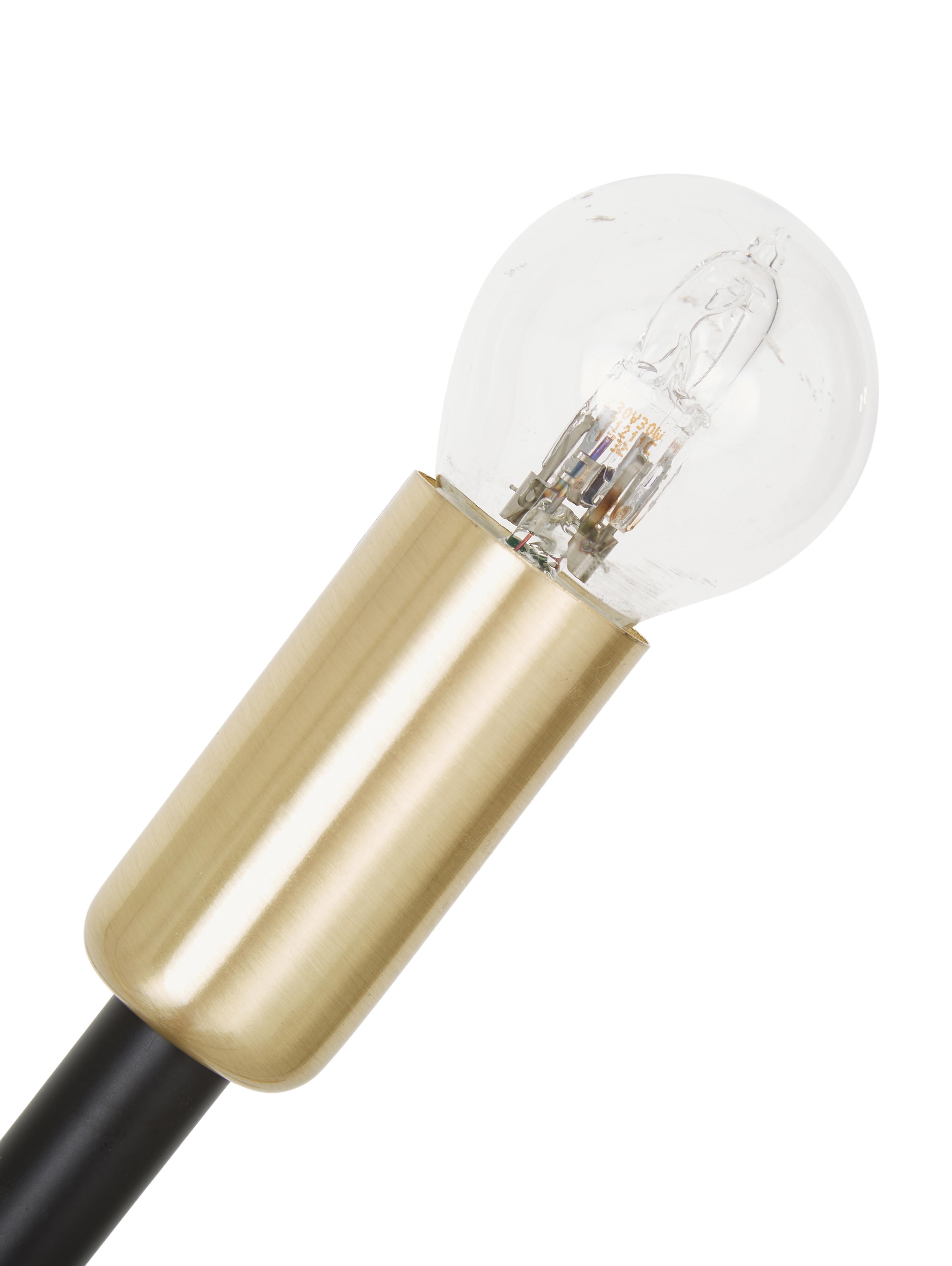 Duża lampa wisząca Spike, Czarny, odcienie złotego, Ø 90 cm