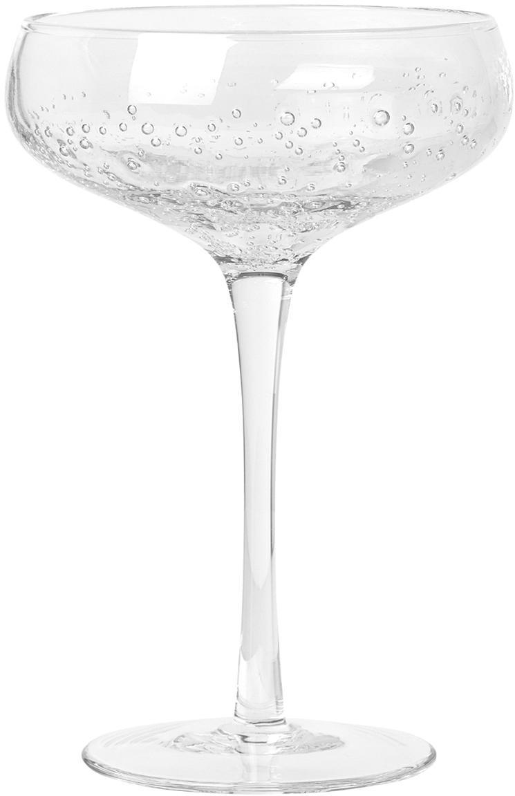 Coppa champagne in vetro soffiato Bubble 4 pz, Vetro, Trasparente, Ø 11 x Alt. 16 cm