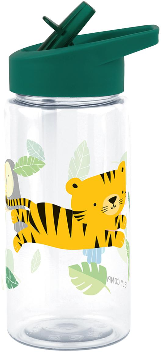 Botella Jungle Tiger, Plástico, Verde, 450 ml