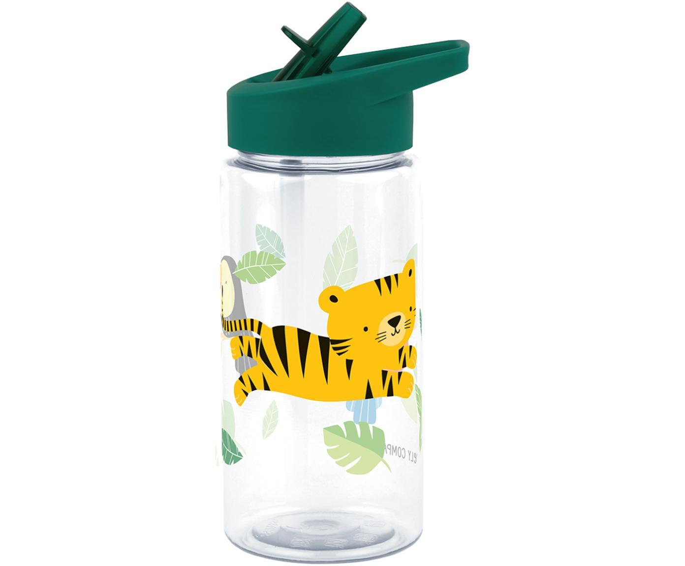 Bidon Jungle Tiger, Tworzywo sztuczne, Zielony, 450 ml