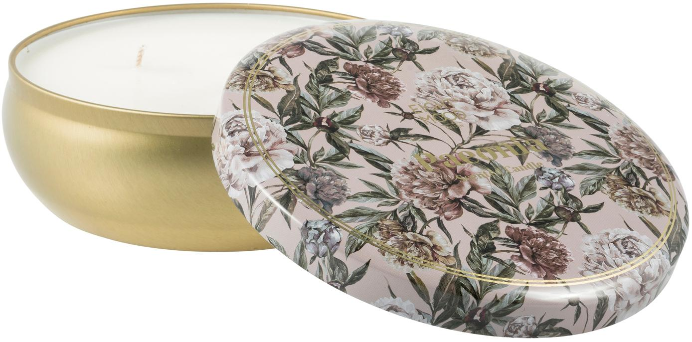 Vela perfumada con tres mechas Secret Garden (naranja, coco, pomeloypera), Latón, beige, verde, rosa palo, Ø 13 x Al 6 cm