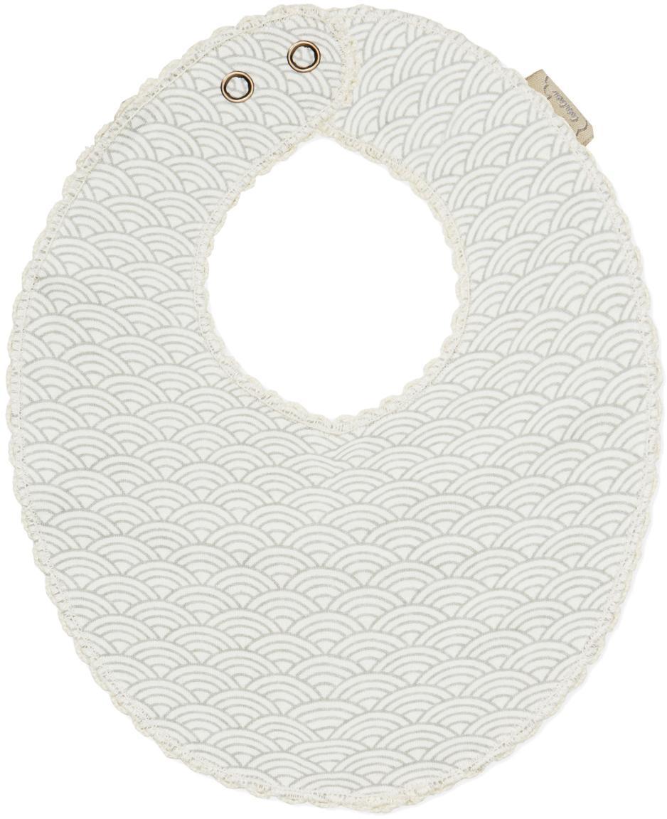 Bavaglino in cotone organico Protect, Cotone organico, certificato GOTS, Grigio, bianco, Larg. 20 x Lung. 23 cm