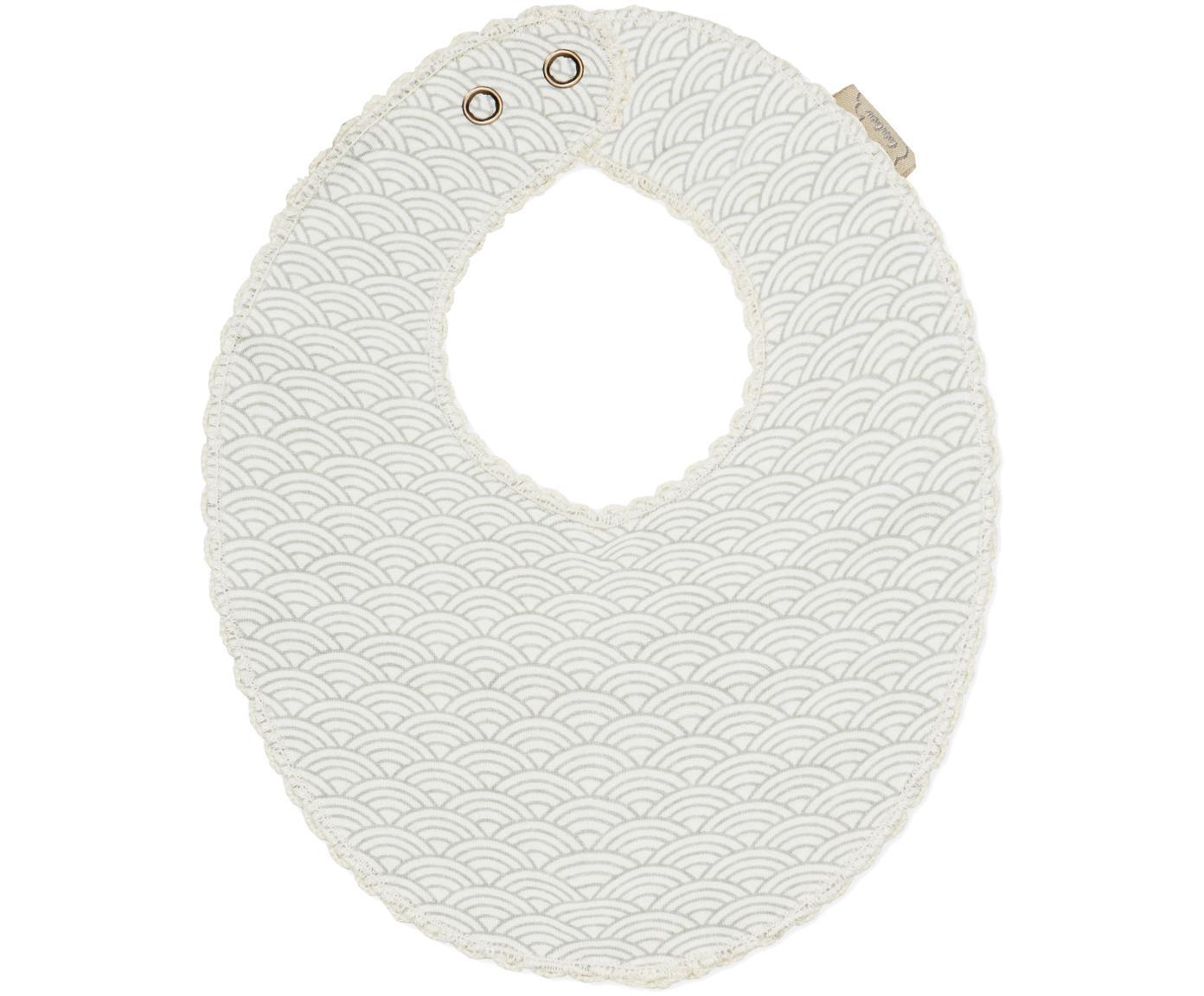 Slabbetje Protect, Organisch katoen, Grijs, wit, 20 x 23 cm