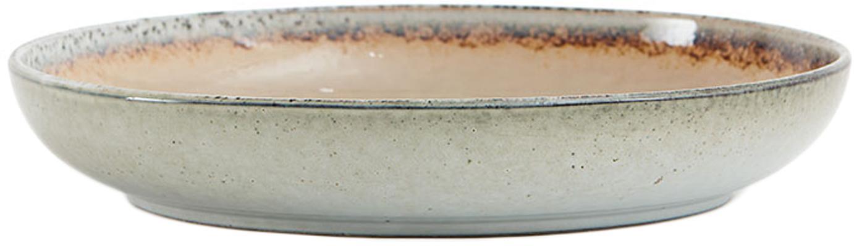 Handgemachte Servierschale Nomimono Ø 32 cm in Beige/Grau, Steingut, Greige, Ø 32 x H 6 cm