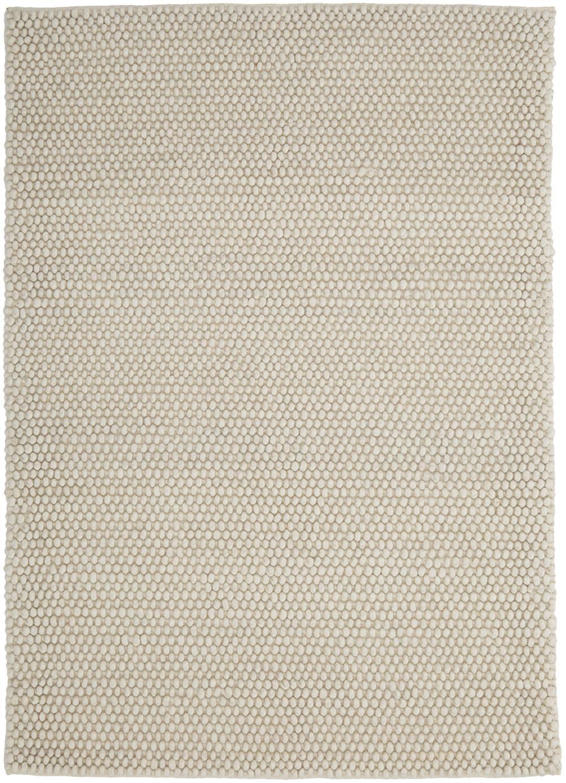 Ręcznie szyty dywan z wełny My Loft, Odcienie kości słoniowej, S 80 x D 150 cm (Rozmiar XS)
