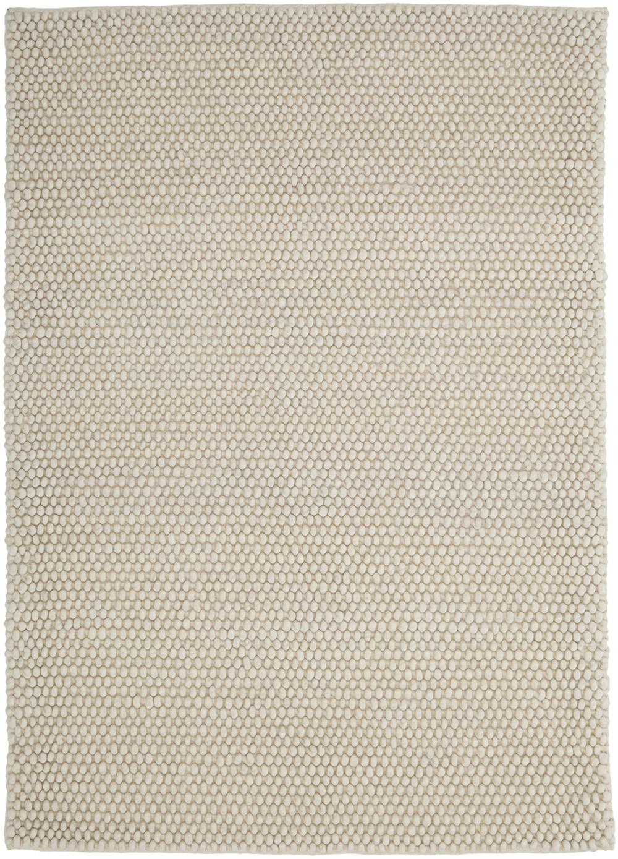 Tappeto in lana fatto a mano My Loft, Retro: cotone, Avorio, Larg. 80 x Lung. 150 cm (taglia XS)