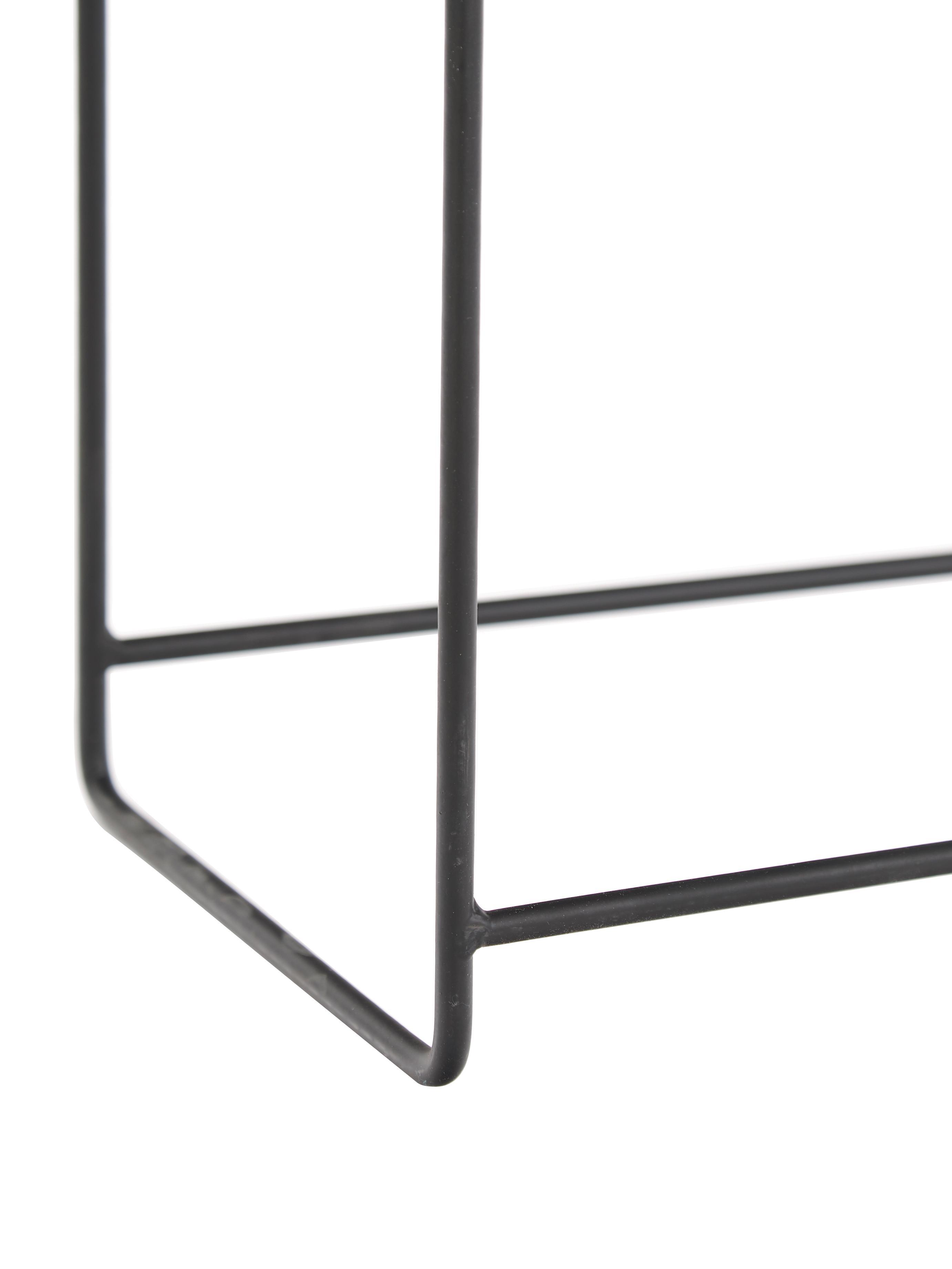 XL Übertopf Flina aus Metall, Metall, beschichtet, Schwarz, 51 x 65 cm