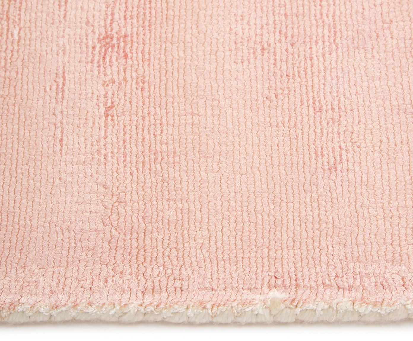 Ręcznie tkany dywan z wiskozy Alana, Wiskoza, Blady różowy, beżowy, S 160 x D 230 cm (Rozmiar M)