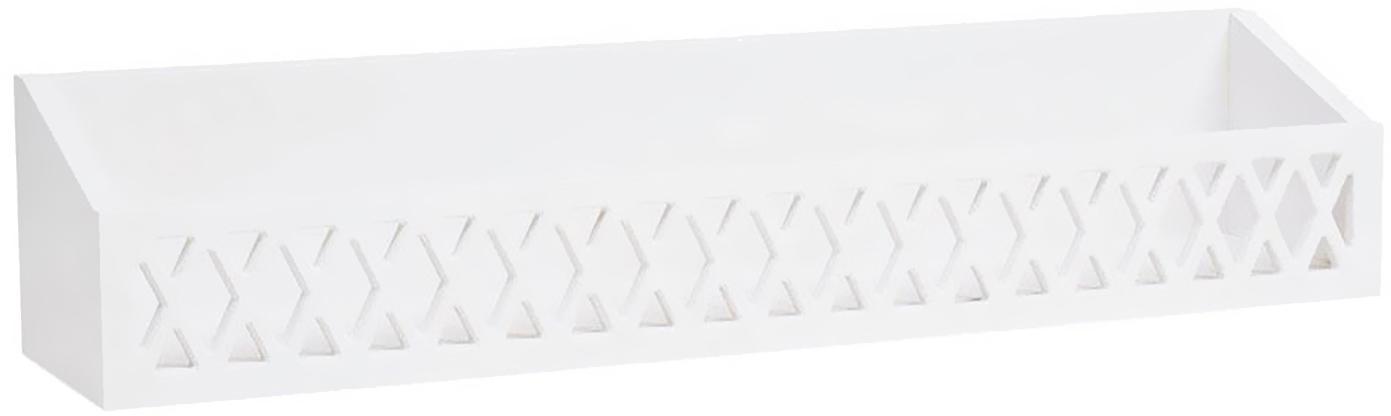 Wandregal Harlequin, Holz, lackiert, Weiß, 75 x 16 cm