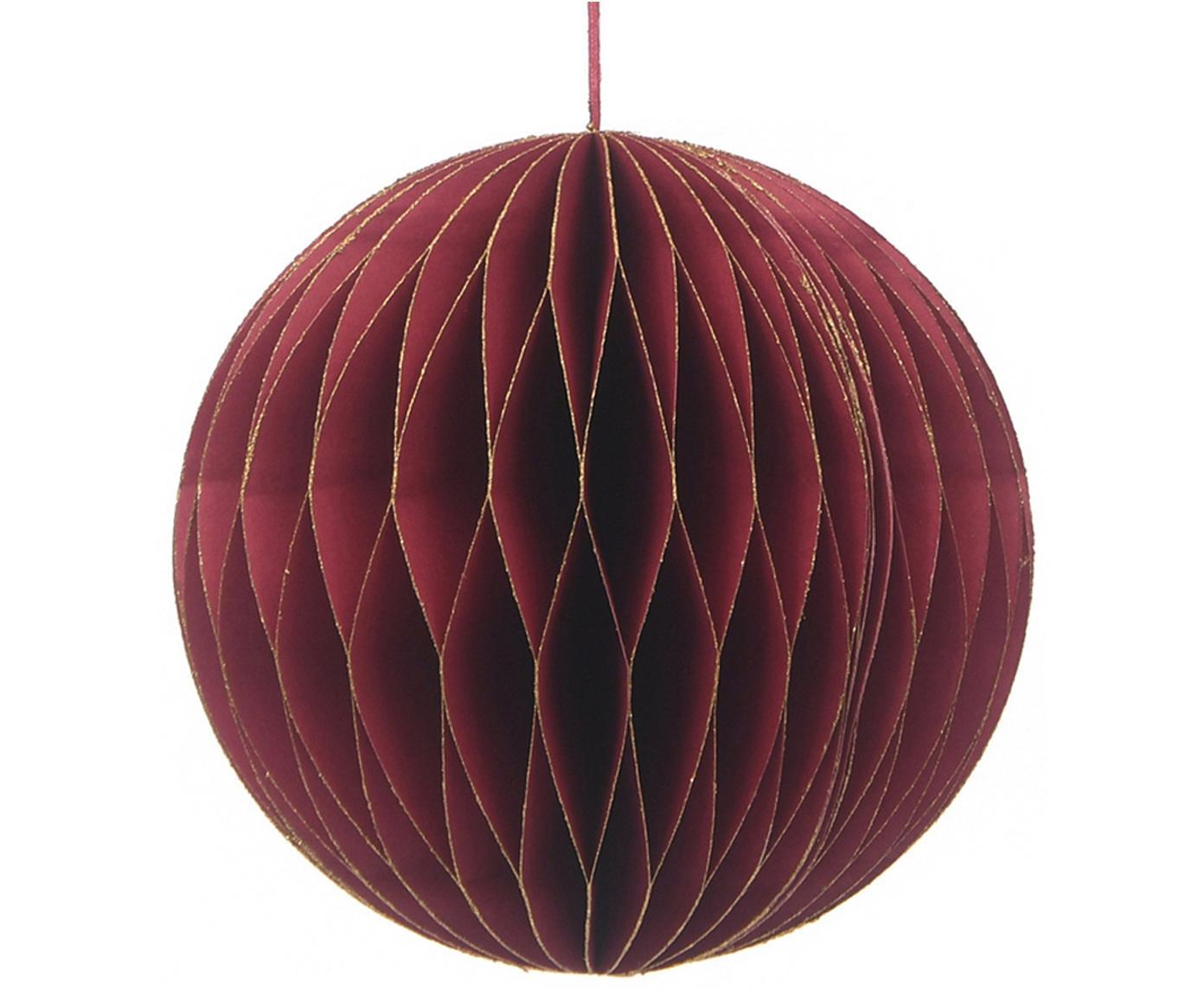 Decoratieve hangers Calarel,  2 stuks, Papier, Rood, Ø 12 x H 13 cm