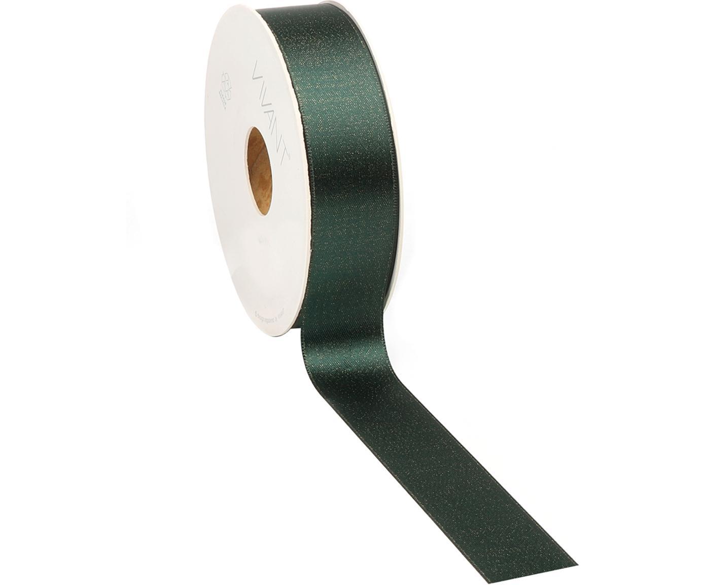 Wstążka prezentowa Victoria, Poliester, Siedzisko: zielony Nogi: drewno dębowe, S 3 x D 2000 cm