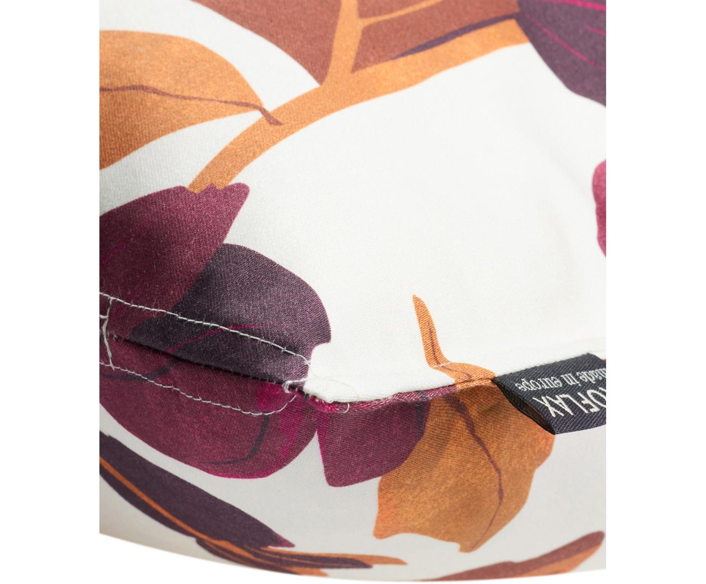 Housse de coussin 50x50 Maite, Blanc, lilas, orange