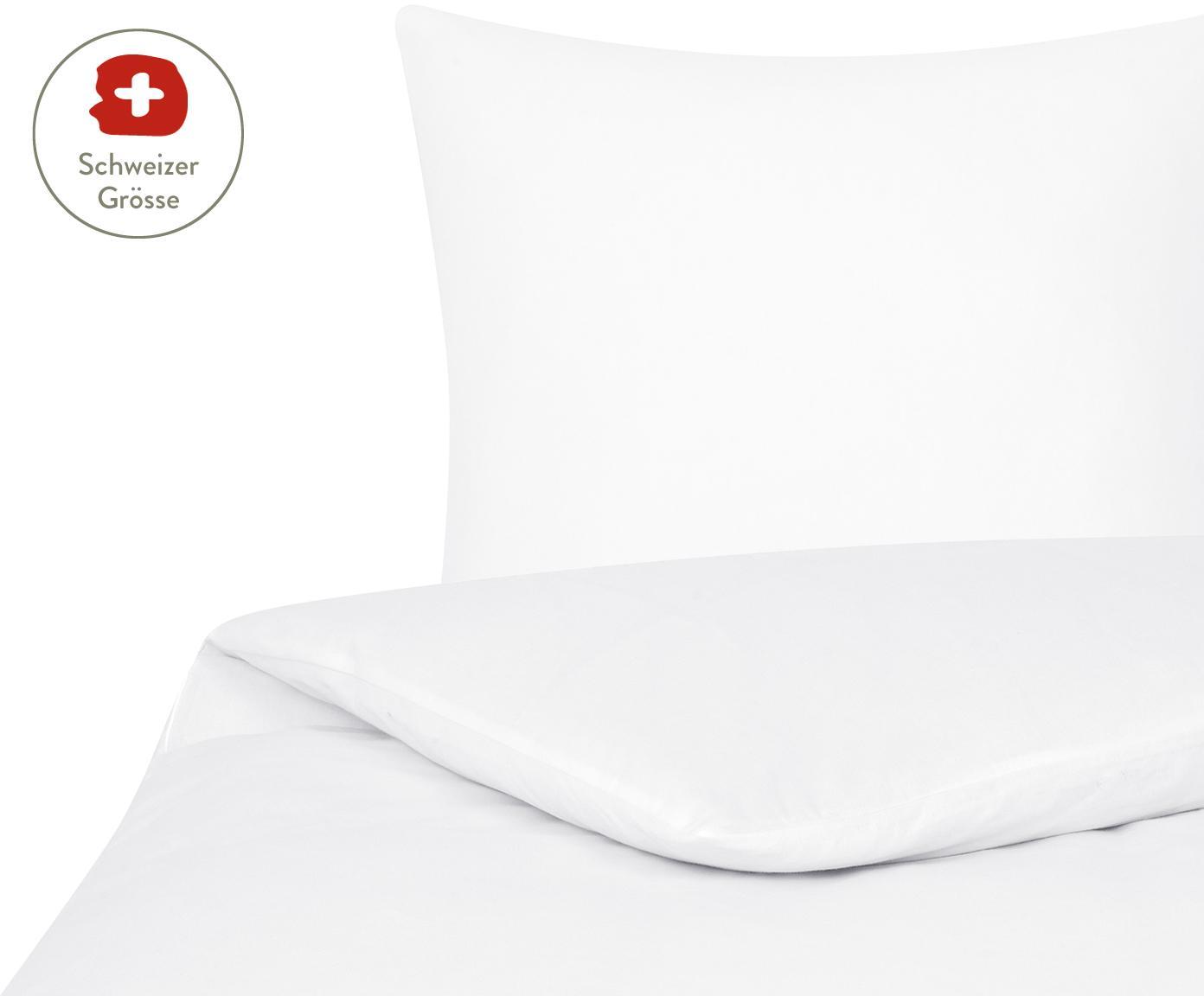 Flanell-Bettdeckenbezug Erica in Weiss, Webart: Flanell, Weiss, 160 x 210 cm