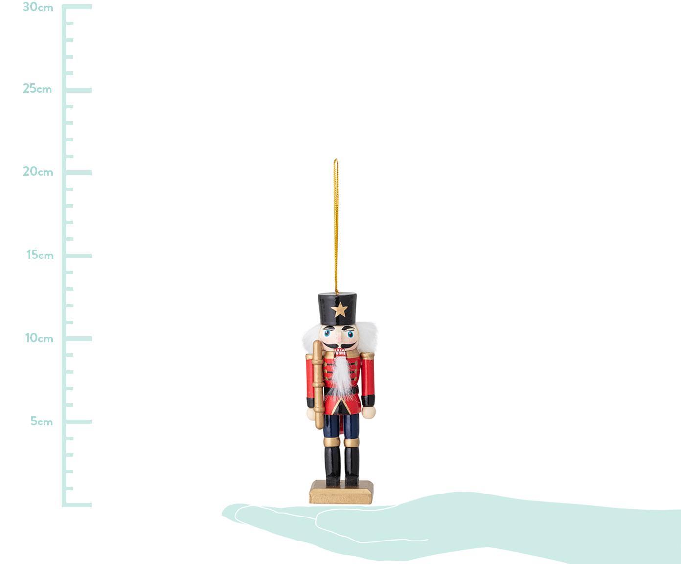 Baumanhänger-Set Nutcracker, 6-tlg., Tannenholz, beschichtet, Mehrfarbig, 4 x 13 cm