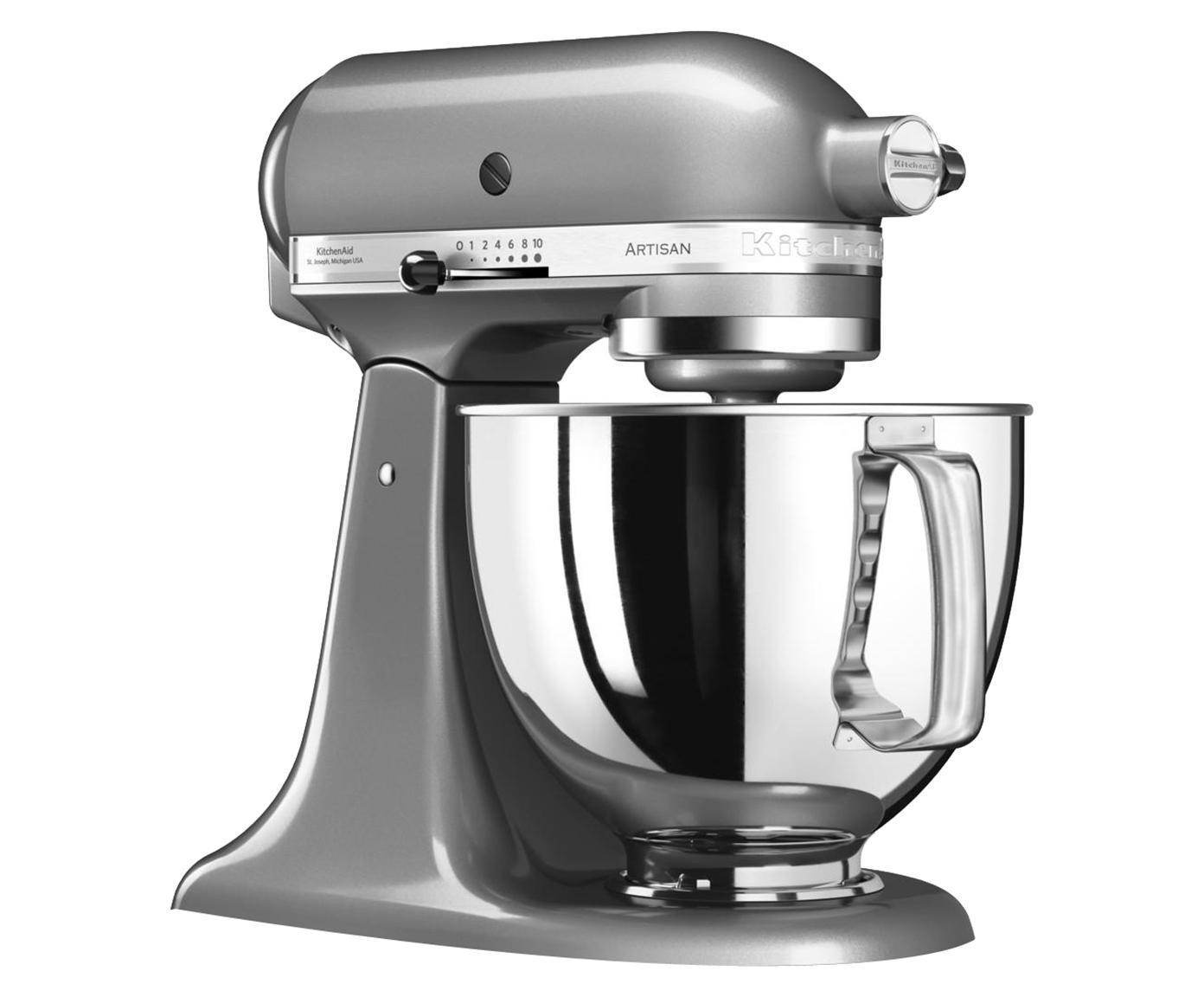Robot da cucina - planetaria KitchenAid Artisan, Ciotola: acciaio inossidabile., Grigio argento, L 37 x P 24 cm