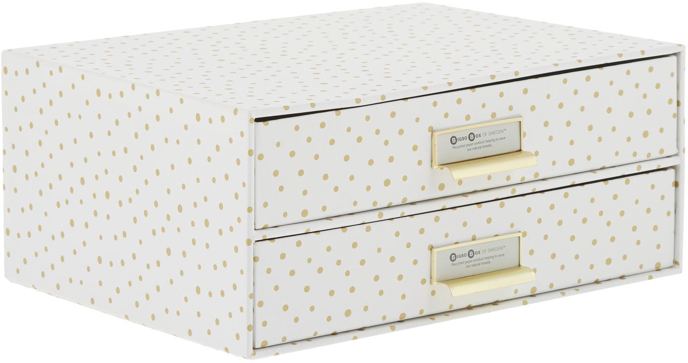 Büro-Organizer Birger, Organizer: Fester, laminierter Karto, Weiss, Goldfarben, 33 x 15 cm