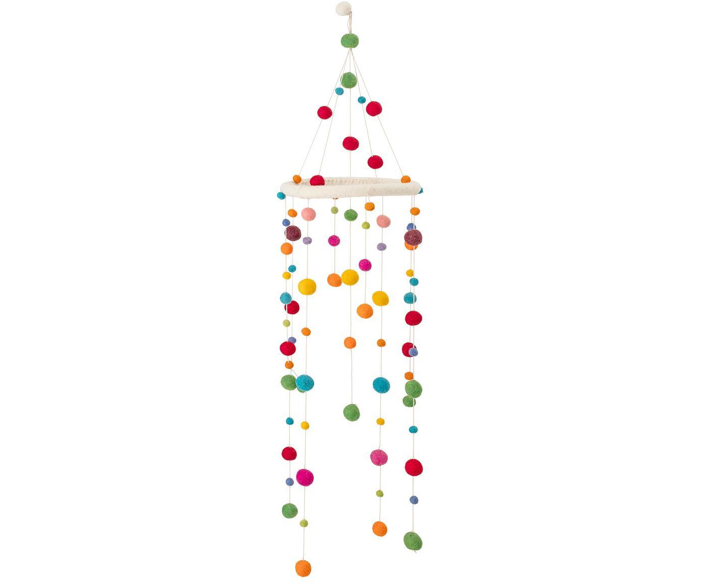 Móvil bebé Dots, Fieltro de lana, madera, Multicolor, Ø 24 x Al 95 cm