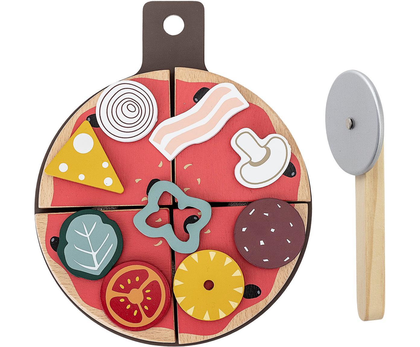 Zestaw zabawek Pizza, 15-elem., Drewno warstwowe, drewno brzozowe, Wielobarwny, S 20 x W 3 cm