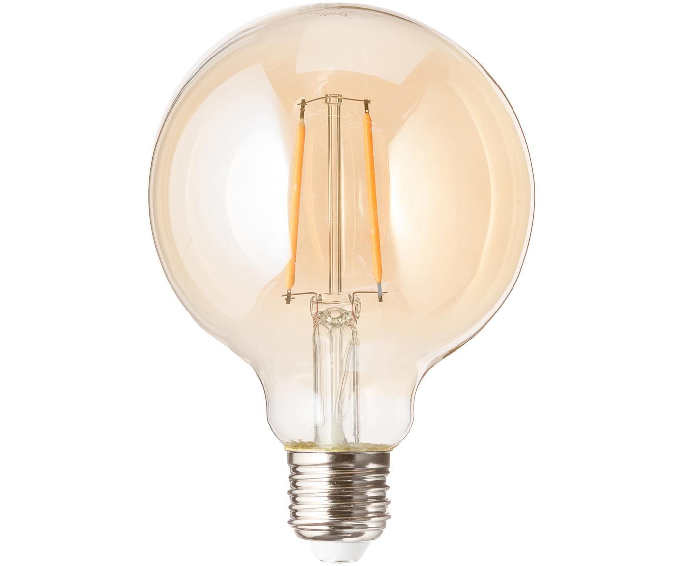 LED lamp Rash (E27 / 1,2W), Peertje: glas, Fitting: aluminium, Amberkleurig, Ø 10 x H 14 cm