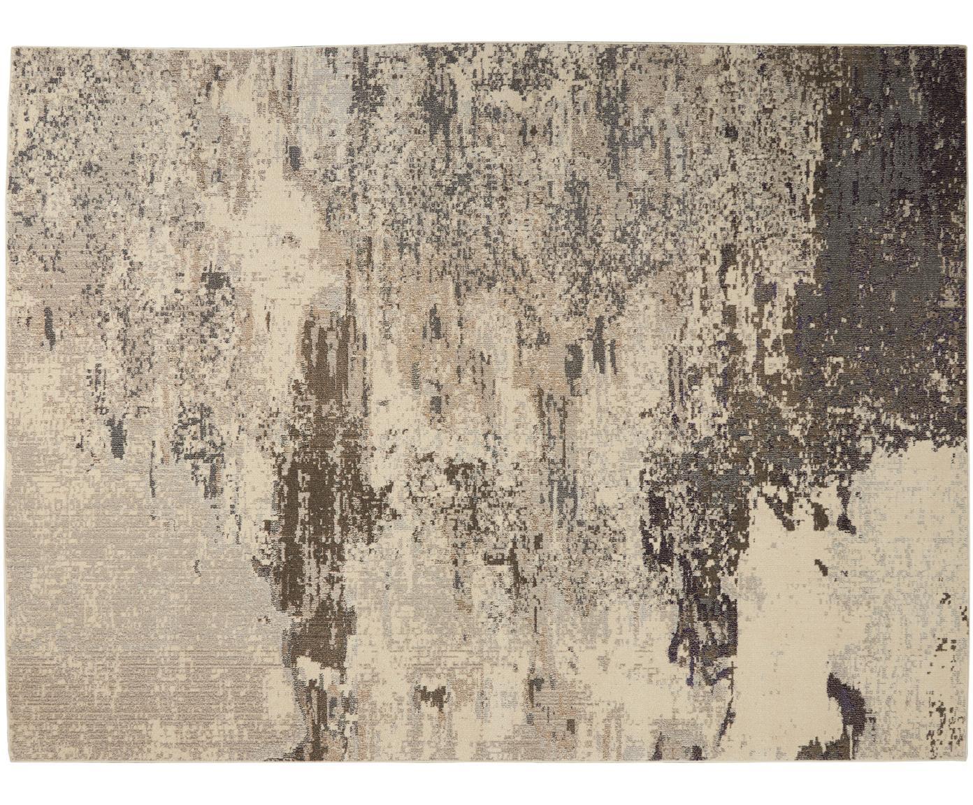 Design vloerkleed Celestial in beige, Bovenzijde: polypropyleen, Onderzijde: latex, Beigetinten, B 120 x L 180 cm (maat S)