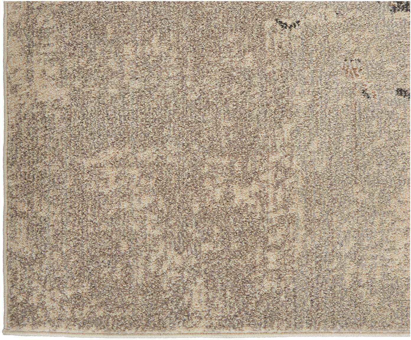 Design vloerkleed Celestial in beige, Bovenzijde: polypropyleen, Onderzijde: latex, Beigetinten, B 275 x L 370 cm (Maat XL)
