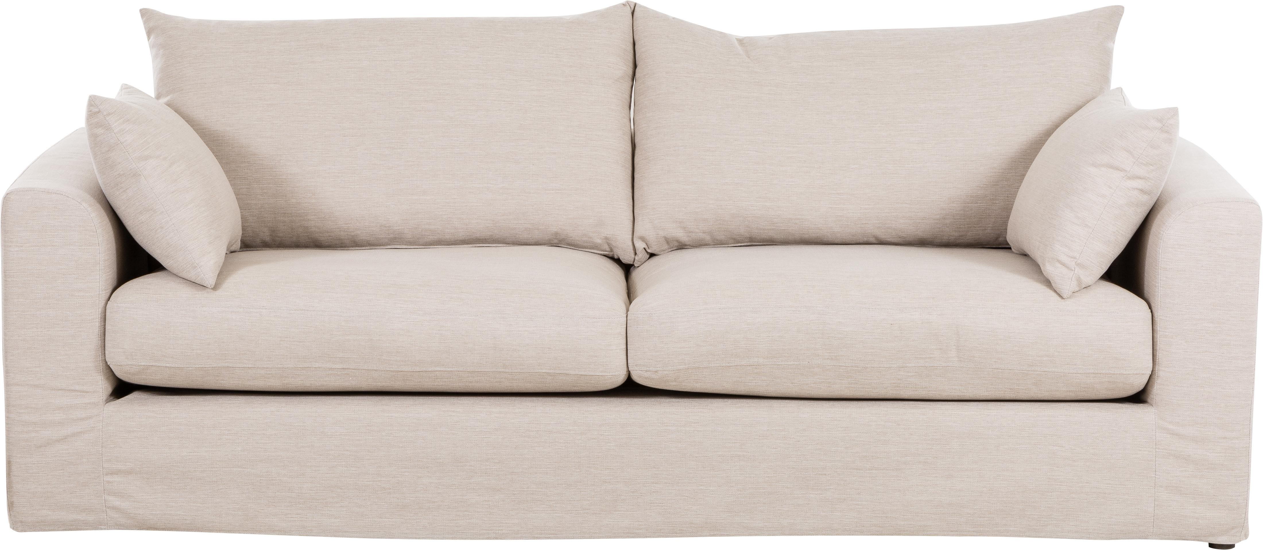 Sofa Zach (3-Sitzer), Bezug: Polypropylen Der hochwert, Füße: Kunststoff, Webstoff Beige, B 231 x T 90 cm