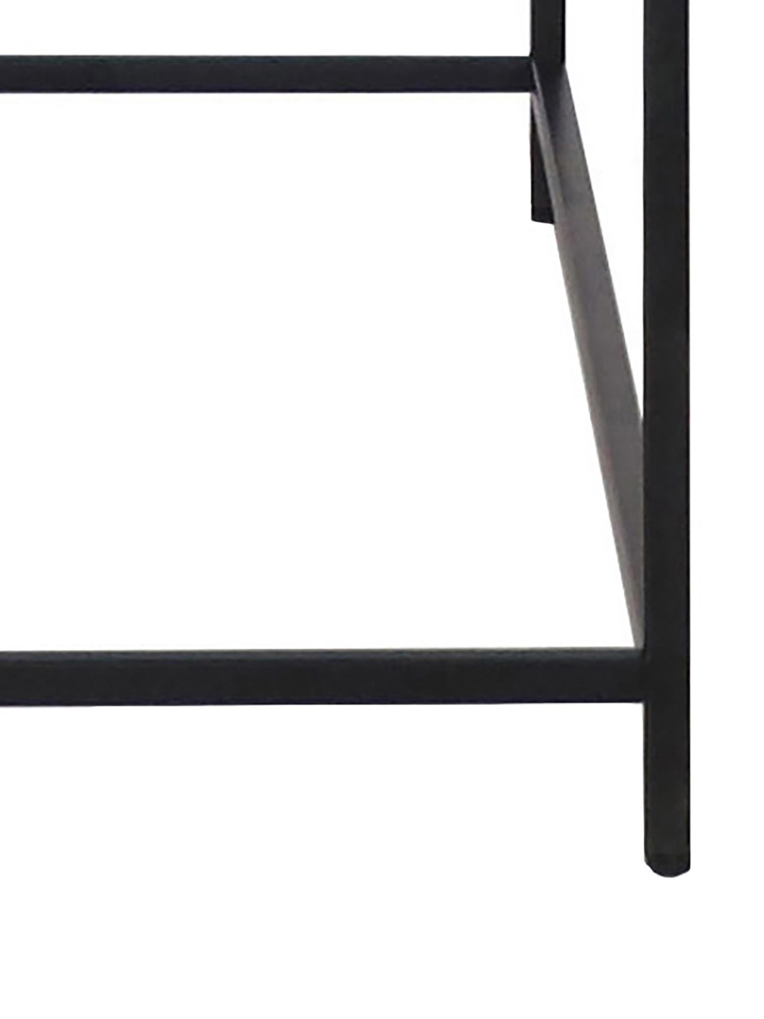 Consolle Newton, Metallo verniciato, Nero, Larg. 100 x Alt. 79 cm