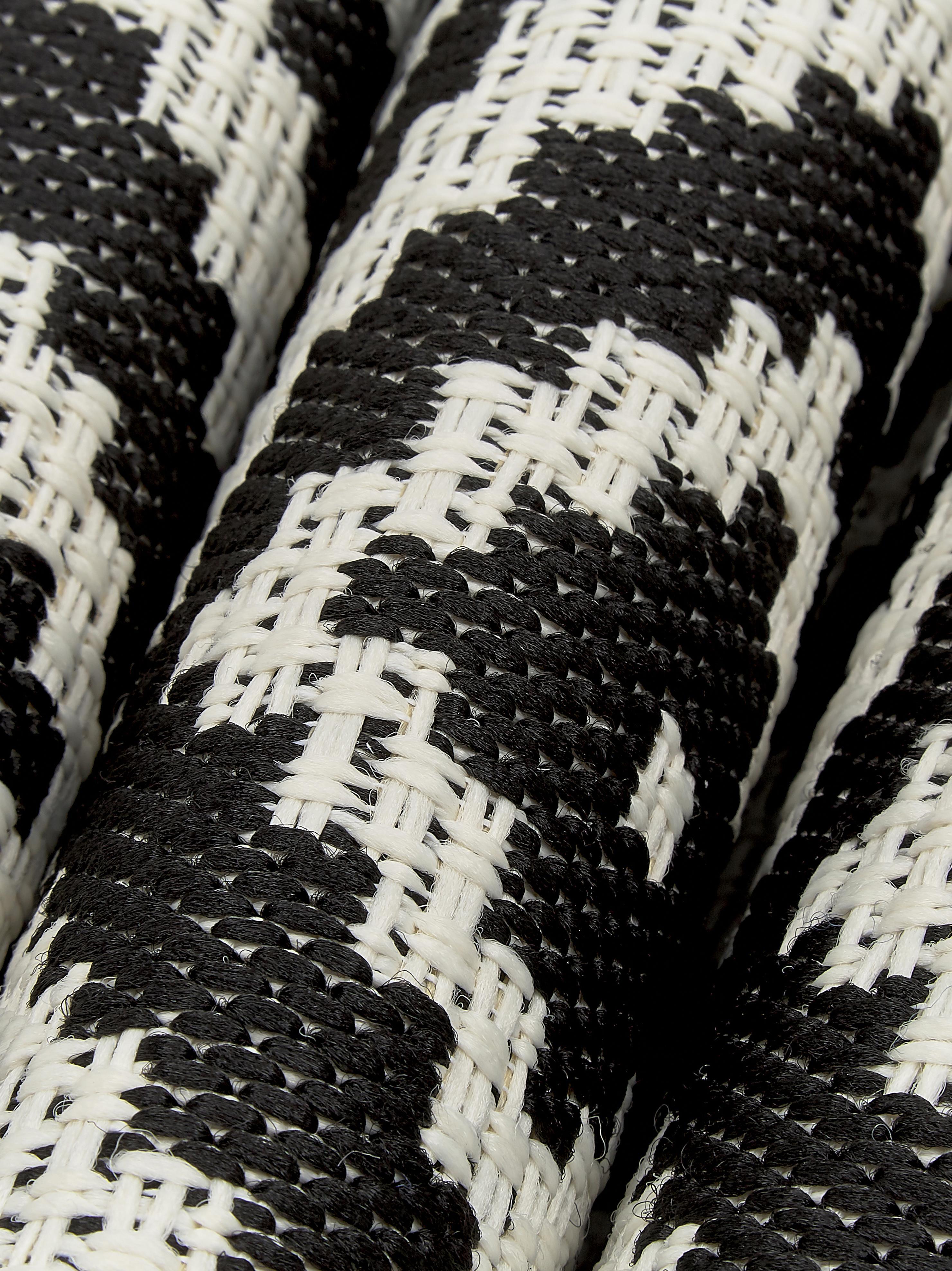 Gemusterter In- & Outdoor-Läufer Miami in Schwarz/Weiß, Flor: 100% Polypropylen, Cremeweiß, Schwarz, 80 x 250 cm