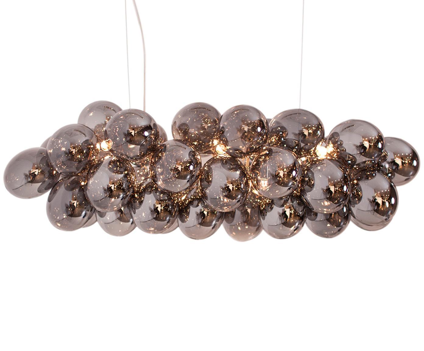 Hanglamp Gross Bar met glazen bollen, Chroomkleurig, 80 x 36 cm