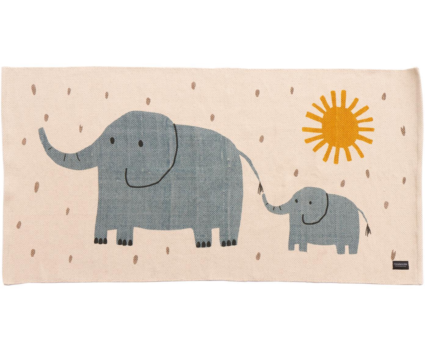 Teppich Elephant, Baumwolle, Gebrochenes Weiss, 70 x 140 cm