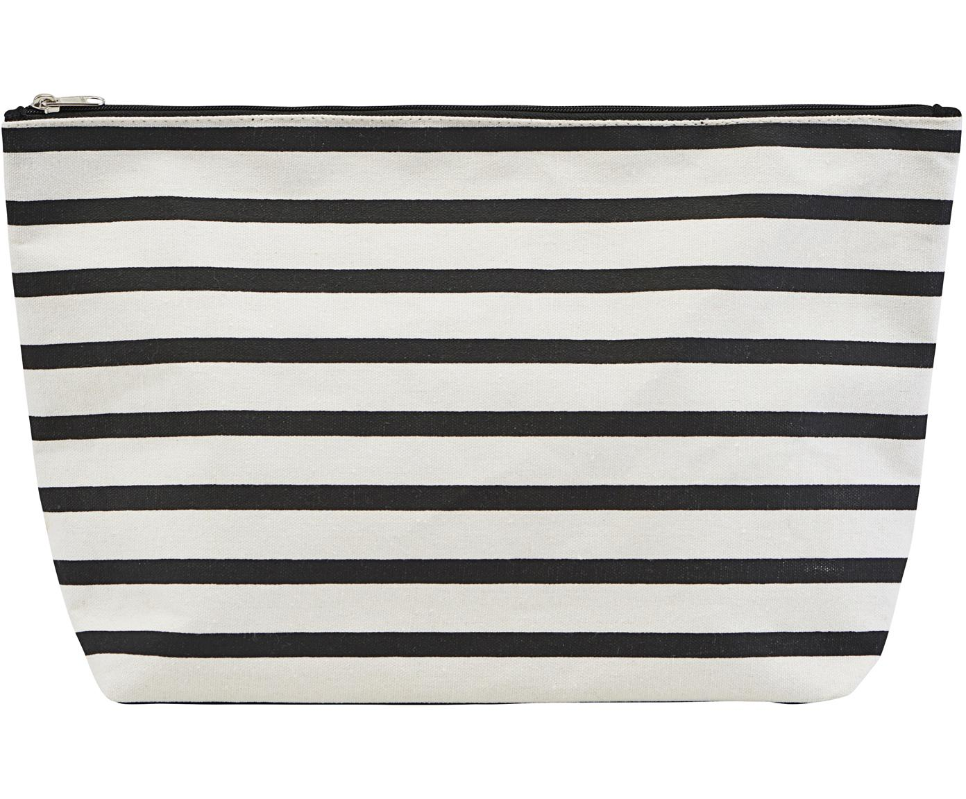 Neceser Stripes, 38%algodón, 40%poliéster, 22%rayón, Negro, blanco, An 32 x Al 20 cm