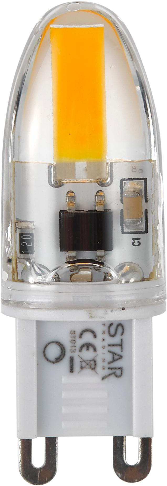 LED peertjes Halo (G9/1,6W) 5stuks, Glas, Transparant, 2 x 5 cm