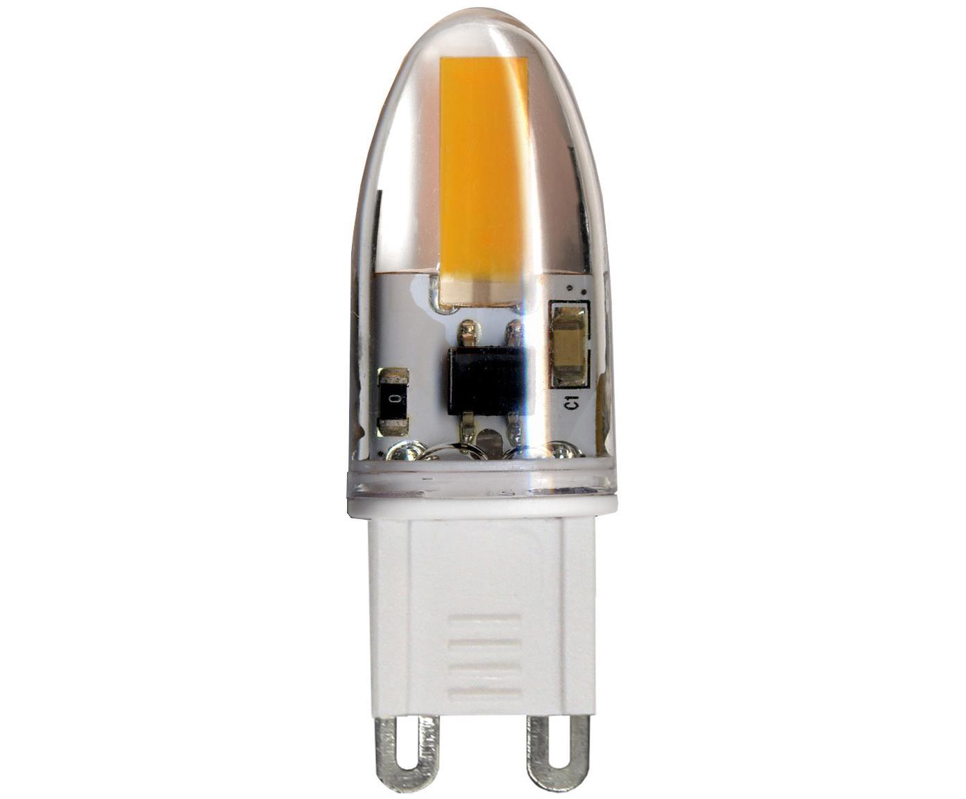 Bombillas LED Halo (G9/1.6W), 5uds., Vidrio, Transparente, An 2 x Al 5 cm