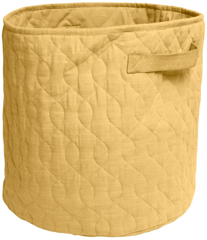 Cesta Steppi, Funda: algodón, Amarillo, Ø 40 x Al 40 cm