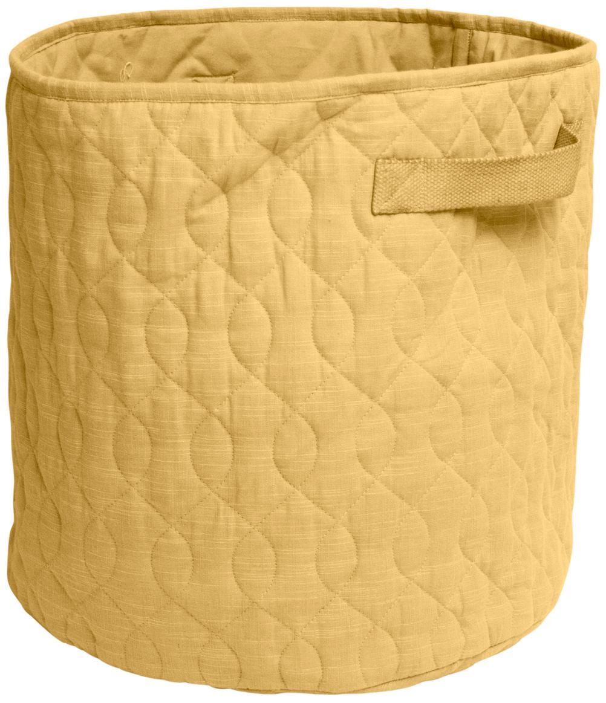 Cesta in tessuto Steppi, Rivestimento: cotone, Giallo, Ø 40 x Alt. 40 cm