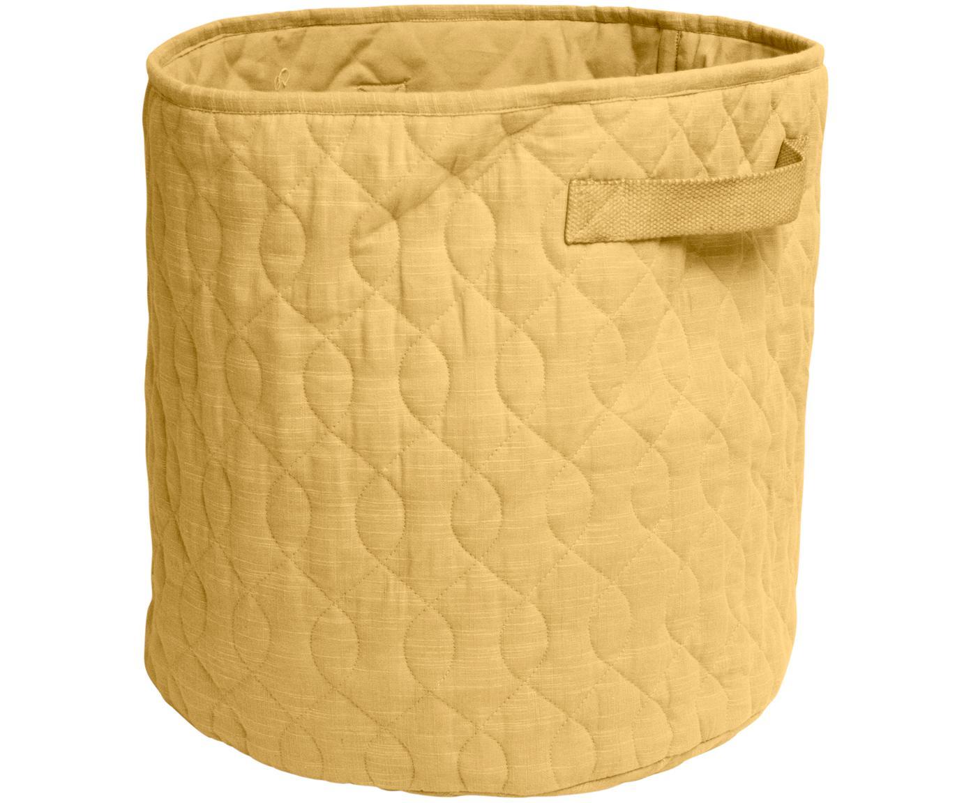 Kosz do przechowywania Steppi, Tapicerka: bawełna, Żółty, Ø 40 x W 40 cm