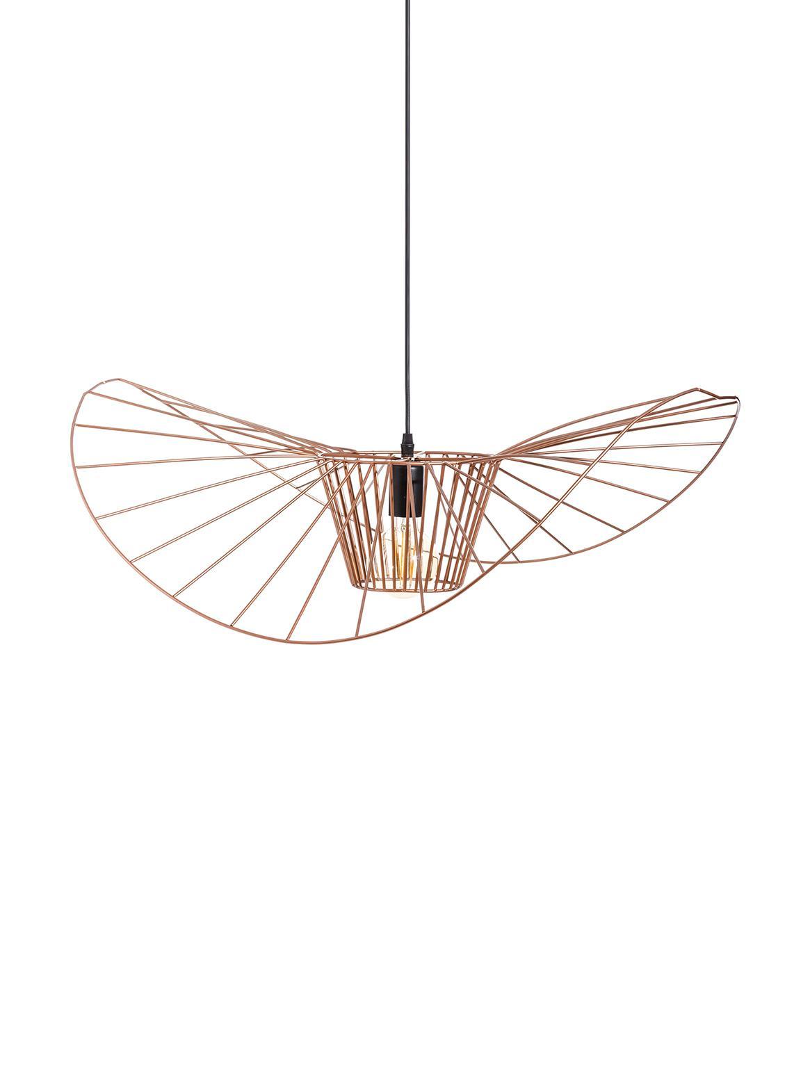 Grote hanglamp Stingray, Gecoat metaal, Messingkleurig, Ø 72 x D 72 cm
