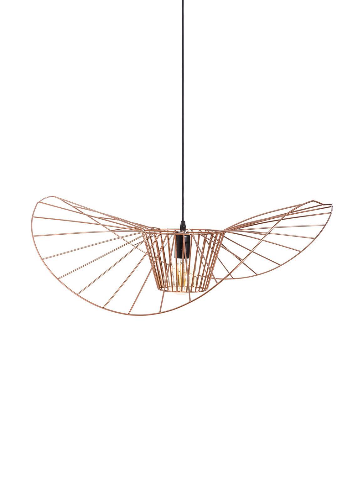 Lampada a sospensione Stingray, Metallo, rivestito, Ottonato, Ø 72 x Prof. 72 cm