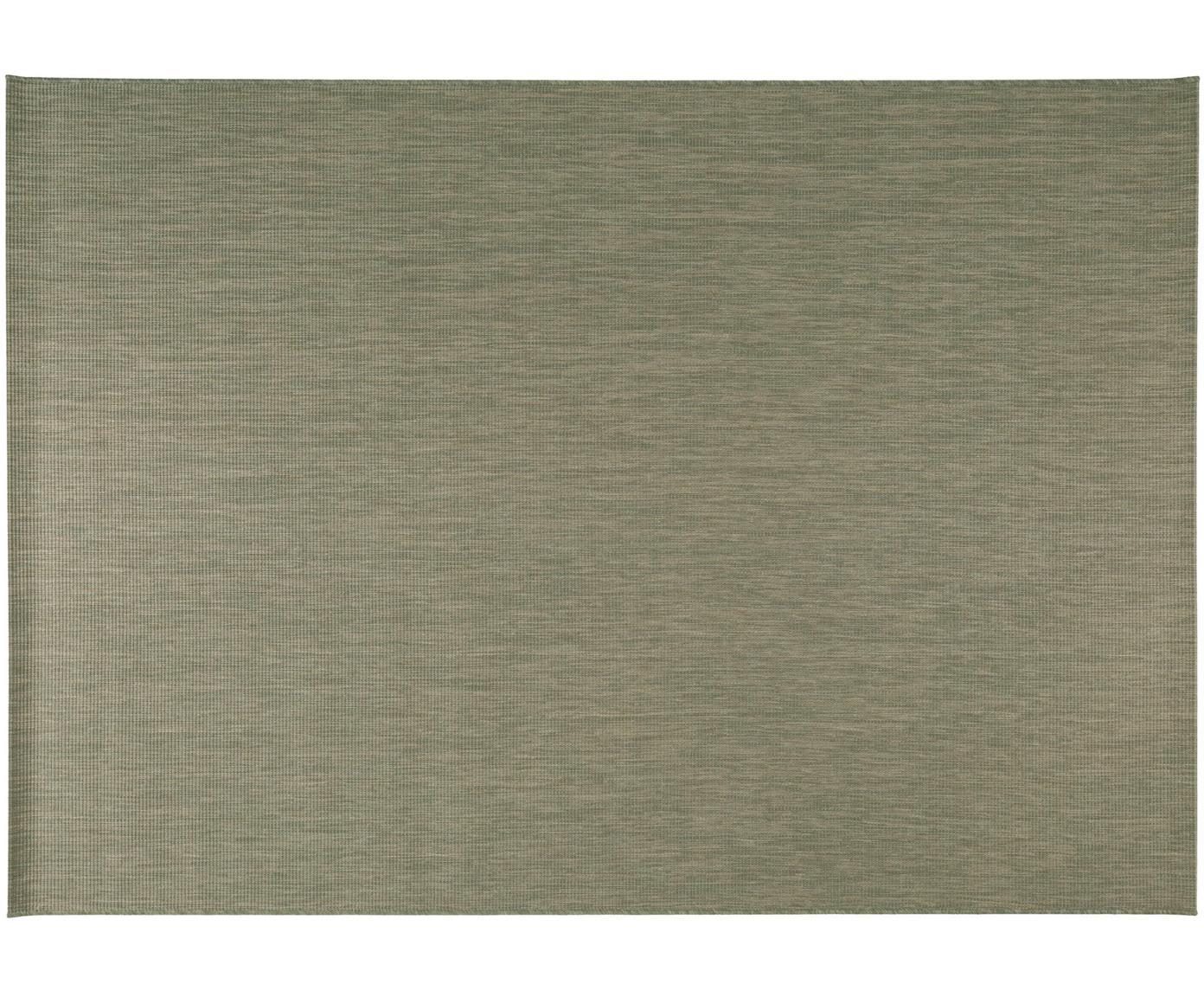 In- & outdoor vloerkleed Metro Needle, Polypropyleen, Groen, B 120 x L 170 cm (maat S)