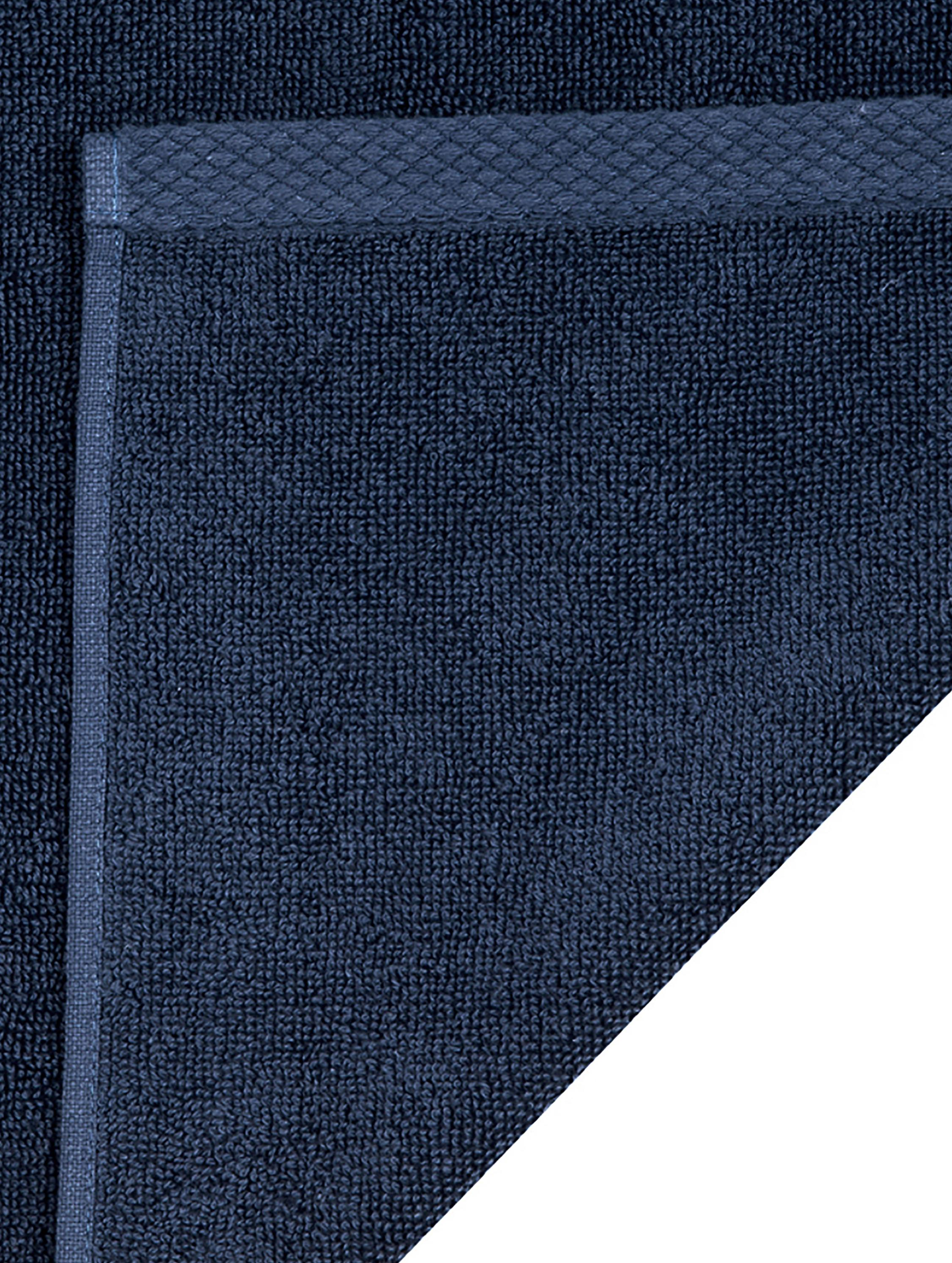 Einfarbiges Handtuch-Set Comfort, 3-tlg., Dunkelblau, Sondergrößen