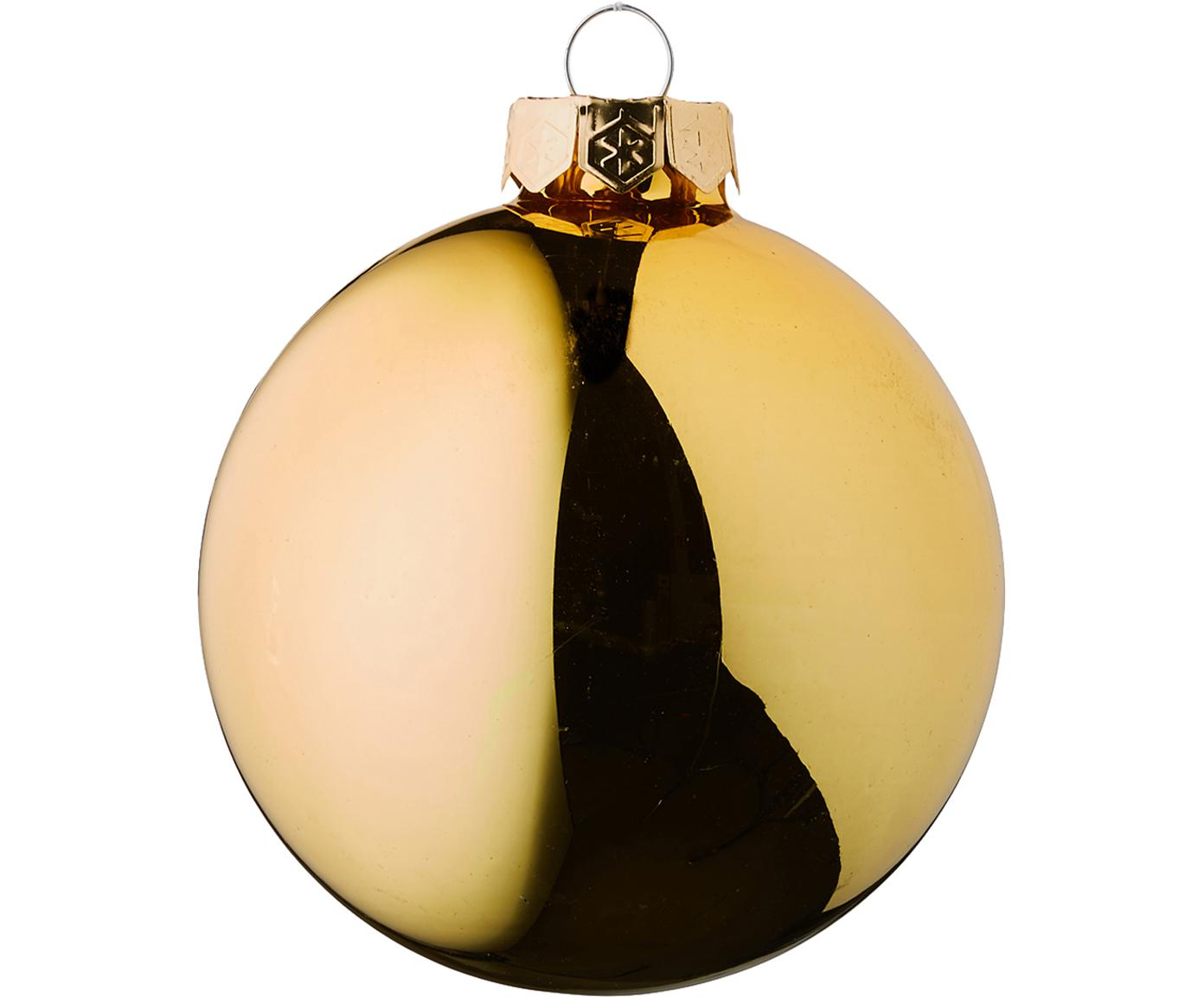 Weihnachtskugel-Set Evergreen Ø8cm,6-tlg., Goldfarben, Ø 8 cm