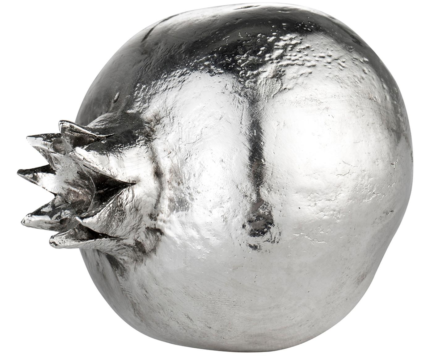 Decoratief object Serafina Pomegranate, Polyresin, Zilverkleurig, Ø 7 x H 8 cm