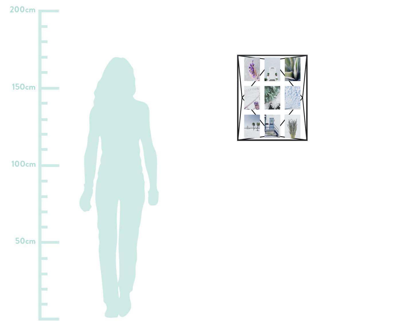 Bilderrahmen Prisma, Metall, beschichtet, Schwarz, 10 x 15 cm