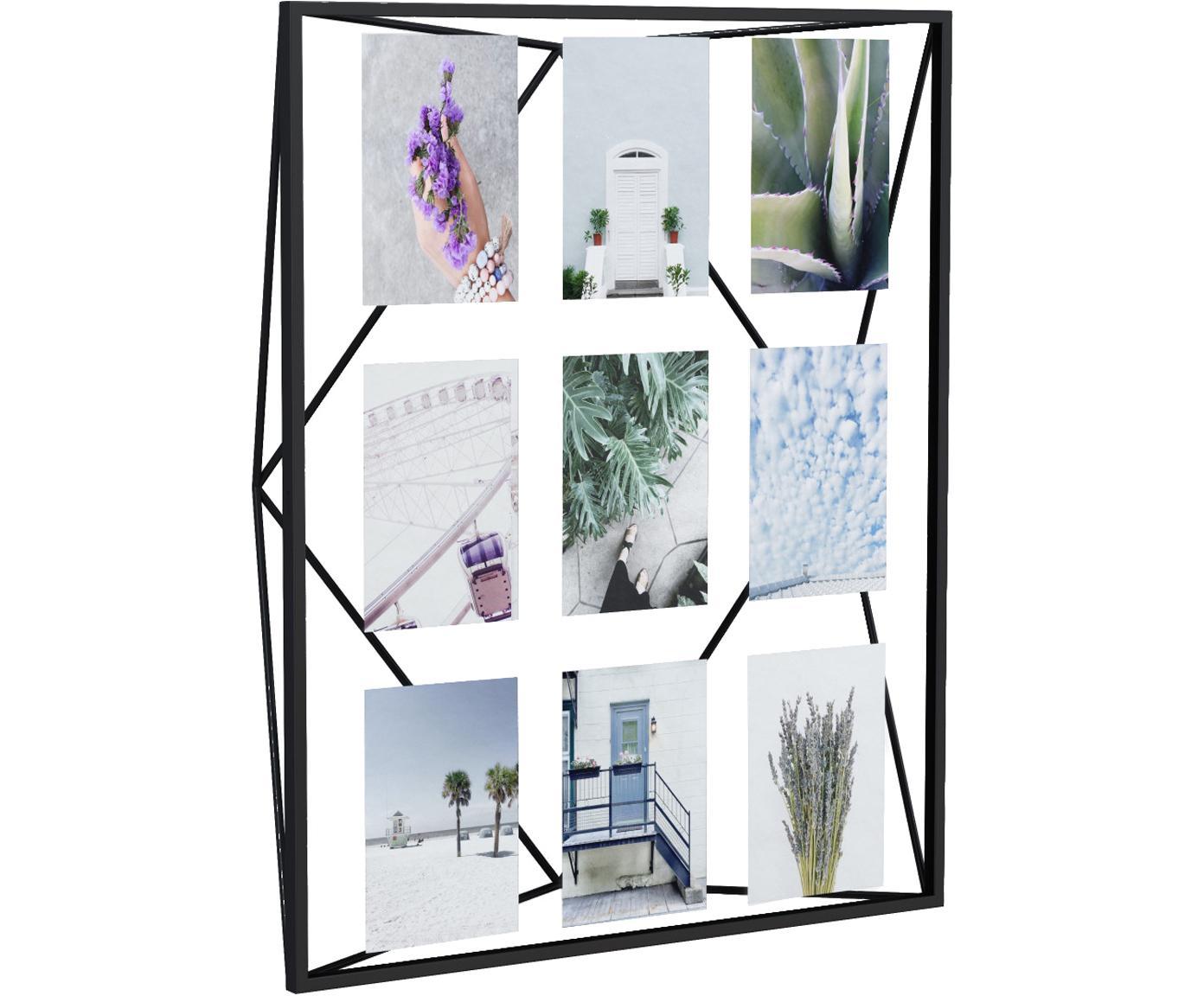 Fotolijstje Prisma, Gecoat metaal, Zwart, Verschillende formaten