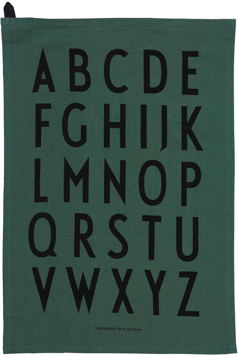 Ręcznik kuchenny Classic, 2 szt., 100% bawełna, Zielony, czarny, S 40 x D 60 cm