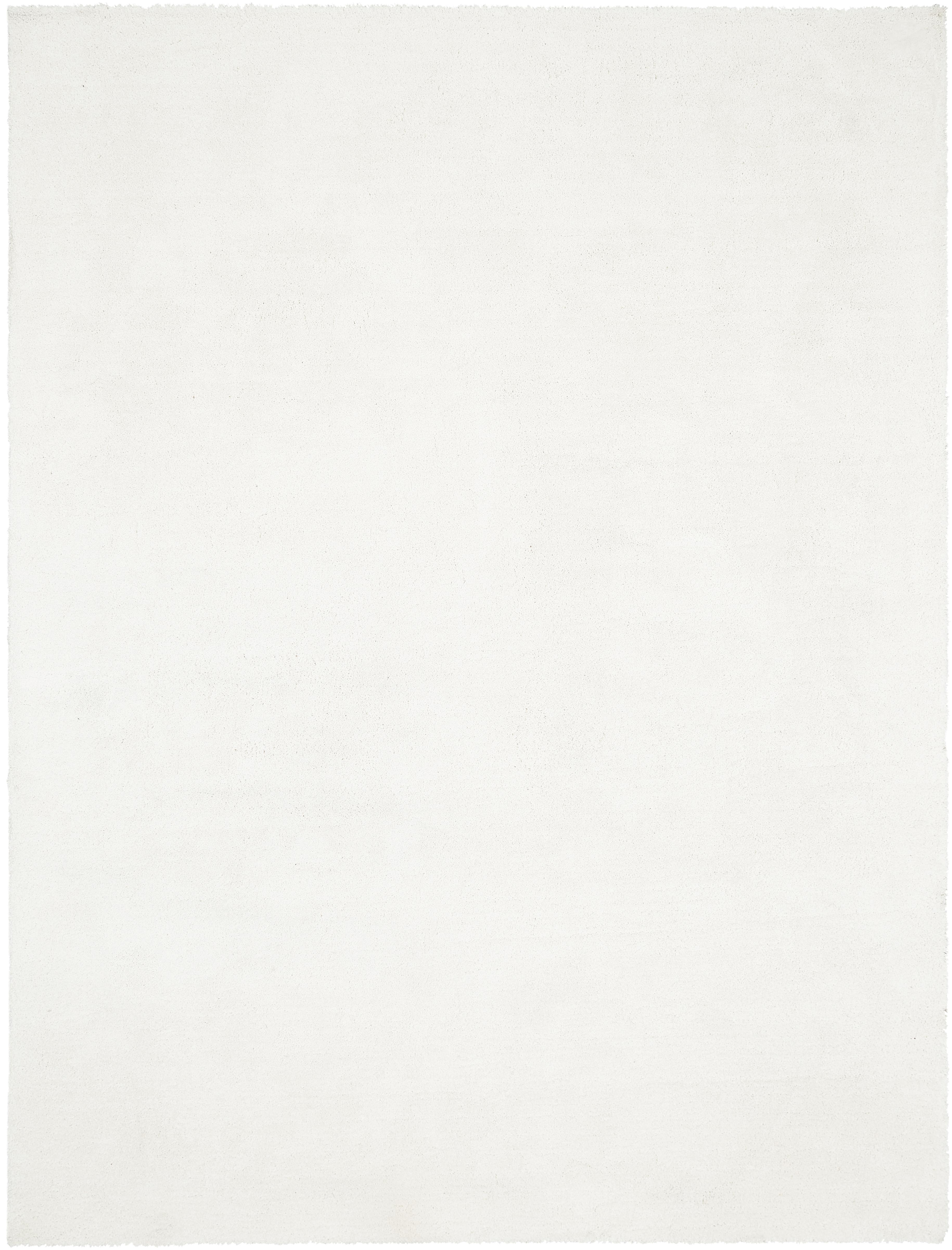 Pluizig hoogpolig vloerkleed Leighton in crèmekleur, Bovenzijde: 100% polyester (microveze, Onderzijde: 70% polyester, 30% katoen, Crèmekleurig, B 300 x L 400 cm (maat XL)